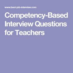 10 examples of competency based interview questions and